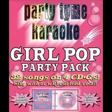 Party Tyme Karaoke: Girl Pop Party Pack by Sybersound (CD, Jun-2005, 4 Discs,...