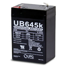 UPG 6V / 4.5Ah Sealed Lead Acid Battery with F1 (.187in) Terminals - UVUB645F1
