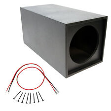 "Universal Spray Lined Single 12"" Inch Vented Subwoofer Enclosure Sub Box"