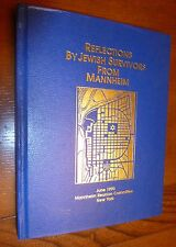 Judaica, Nazi Persecution, Jewish Survivors, Mannheim, Germany, Genealogy