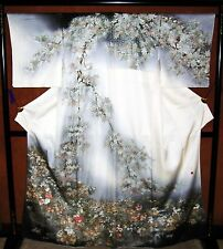 WALL ART DECORATE VINTAGE TRADITIONAL JAPANESE KIMONO Maple Leaf - Maker Signed