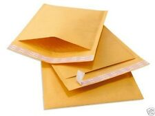 "LOT OF 500 4"" x 8"" #000 KRAFT BUBBLE MAILERS GENERIC ENVELOPES SHIP JEWELRY BULK"