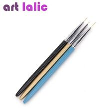3pcs Metal Useful Nail Art Liner Painting Drawing Pen Brush Brushes Tools
