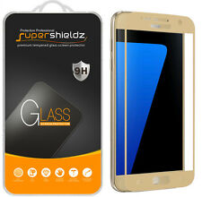 Supershieldz- Tempered Glass Screen Protector For Samsung Galaxy S7 (Gold Color)