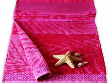 Pink Sunburst Velour Giant Beach Towel  100%Egyptian Cotton  Bath Sheet Holiday