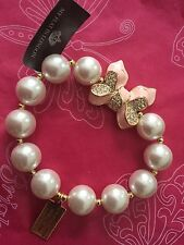 NEW BRIGHTON MY FLAT IN LONDON MISS KHLOE BRACELET STRETCH PINK PEARL$62