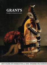Publicité Advertising 1994  WHISKY GRANT'S  family reserve  William GRANT'S