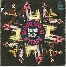 BLOOD, SWEAT & TEARS-LUCRETIA MAC EVIL + LUCRETIA´S REPRISE SINGLE VINILO 1970