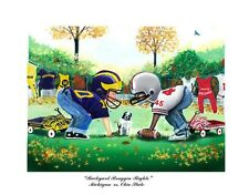 MICHIGAN WOLVERINES OHIO STATE BUCKEYES FOOTBALL LIMITED EDTION PRINT
