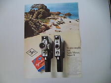 advertising Pubblicità 1967 AGFA MOVEX SUPER 8