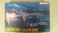 DML / DRAGON 1/144 F-14A TOMCAT with Tractor, Fire Engine, Crew & Deck Model Kit