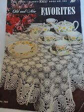 1950's Vintage Crochet Pattern Book Runners Bed Spread Doilies