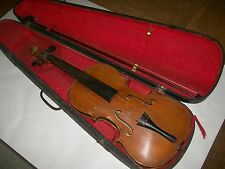 antique violin G.A.Pfretzchner Markneukirchen Germany w/wood case &bow