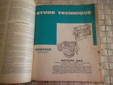 REVUE TECHNIQUE MOTEURS BMC 4 et 6 cylindres 3.8 - 5 et 5.7 litres