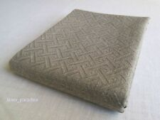 Pair of 100% LINEN Flax BATH Sheets Towels Damask European Flax Natural Gray SPA