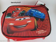 NEW DISNEY PIXAR CARS RECTANGLE SOFT LUNCH BAG W/STRAP LIGHTNING MCQUEEN (CARSIL
