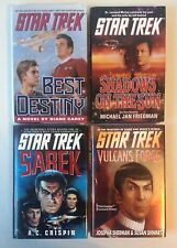 Lot 4 STAR TREK Books (HC) Best Destiny Sarek Vulcan's Forge Shadows on the Sun