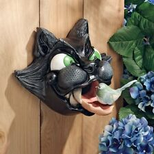 Birdhouse Bird House Cat Sculpture Lawn Yard Art Outdoor Garden Decor Statuary
