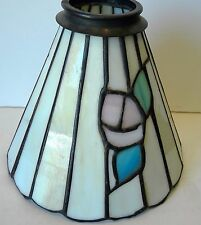 Tiffany Style Stained Slag Glass Leaded Chandelier or Floor Lamp Shade A1