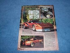 """1977 Corvette Coupe Can-Am Street Machine Vintage Article """"Switch Hitter"""""""