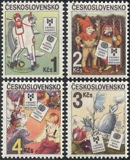 Checoslovaquia 1985 Children's Books/caballo/Erizo/elfos/Flores 4v Set n44158