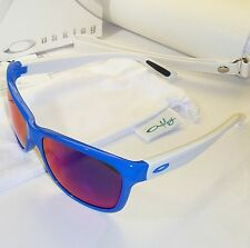 Oakley Forehand Sunglasses & Case-Brilliant Blue Frame/+ Red Iridium Lens