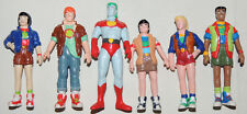 Scarce Set of 6 Vintage CAPTAIN PLANET PVC Figures Comic Book Classic  MINT