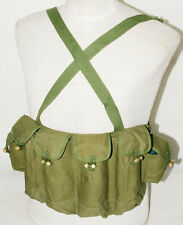 SURPLUS CHINESE ARMY MILITARY 81/TYPE AK47 CHEST RIG AMMO POUCH BAG ARMY GREEN