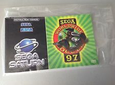 Vintage SEGA SATURN PAL # world wide worldwide soccer 97 manual multilanguage