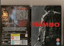 RAMBO DVD STEEL BOOK VERSION RATED 18 SLYVESTER STALLONE