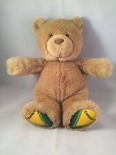 "Stuffed Plush Teddy Bear Crayola Crayons Collectible by Gund 10"" Carmel Brown"