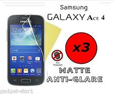 3x Hq Mate Anti Glare Screen Protector Tapa Protector Samsung Galaxy Ace 4