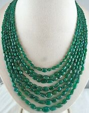 EXCLUSIVE OLD ESTATE MAHARAJA 471CTS NATURAL EMERALD LONG BEADS STRING NECKLACE