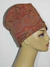 1920's Victorian Paisley Wool Cloche SM