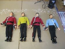 "SET OF 4 CLASSIC STAR TREK 12"" PLAYMATES ACTION FIGURES W/ACCESSORIES FAST SHIP"