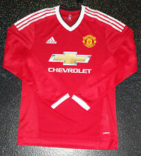 Manchester United Player Issue adizero Match Home Shirt LS - Size 6