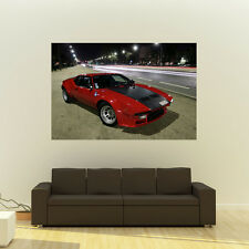 Poster of De Tomaso Pantera Red GTS Giant Super Car Huge Print 54x36 Inches