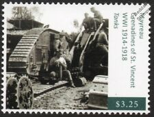 WWI Russian Soldiers Repairing British Mark V Tanks on Front Line Stamp