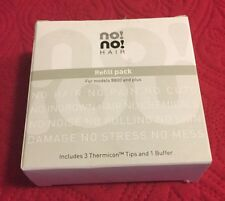 NO NO HAIR REFILL PACK FOR MODELS 8800 AND PLUS. THERMICON TIPS PLUS BUFFER