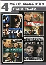 4 Movie Marathon: Conspiracy Collection State of Play / Closed Circuit / Spy Ga
