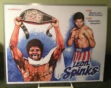 LEON SPINKS Olympic World Heavyweight Champion SIGNED 11x14 Color Print w/ COA