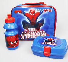 ULTIMATE SPIDER-MAN CHILDREN KIDS LUNCH SCHOOL SANDWICH BAG BOX SPORTS BOTTLE