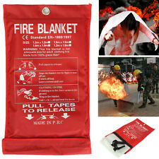 1m Pro Fire Blanket Home Kitchen Safe Quick Release Fight Protection Emergency