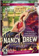 Nancy Drew LABYRINTH OF LIES PC & Mac Game DVD-ROM Adventure NEW