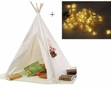 Children Kids Teepee Tipi Play Tent Play House Indoor/Outdoor Camping Tent Light