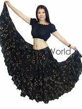 25 Yard British Tribal Belly Dance , Dancing Cotton Skirt Black