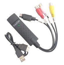 USB RCA AV S-Video CVBS Video Audio TV VHS DVD Capture for Win 7 8 64Bit New