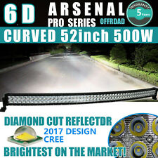 "6D 52INCH 500W Curved CREE LED Work Light Bar Flood Spot Combo Truck 54"" VS 7D+"