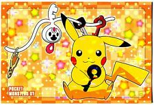 PROMO POKEMON JAPANESE (12x8 cm ) HOLO THE MOVIE XY 2014 PIKACHU