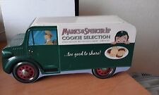 Vintage Tin Cookie Selection Marks & Spencer shape of a delivery van .